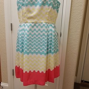 Bright & Colorful Sleeveless Dress